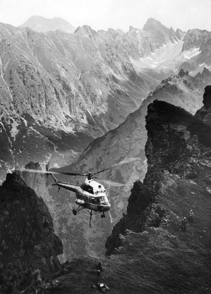 Záchranná akcia z 23. júla 1975 na Bielovodskej veži, kedy vrtuľník Mil Mi-2 pilotoval Stanislav Hradský.